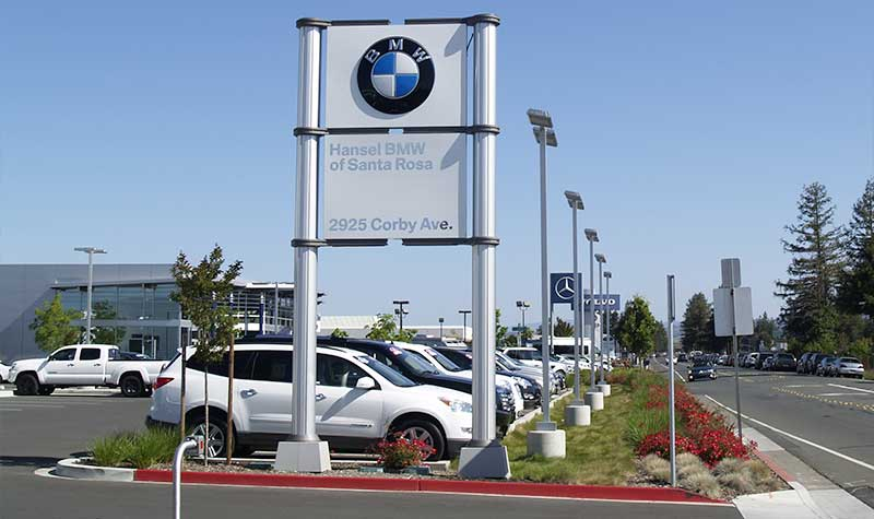Medium Commercial Installation - Hansel BMW, Santa Rosa